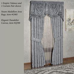 Camelot Empire Valance Gray 110 x 28