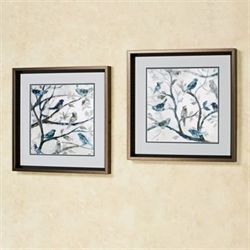 Morning Song Framed Wall Art Multi Cool Set of Two