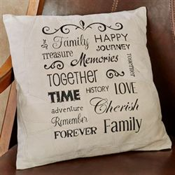 Family Suede Leather Decorative Pillow Multi Earth 15.5 Sq