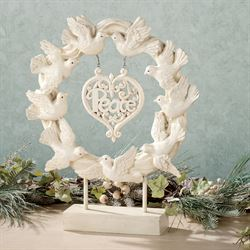 Doves of Peace Tabletop Accent White