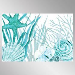 Coral Life Cushioned Floor Mat Aqua 30 x 20