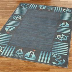 Regatta Rectangle Rug Steel Blue