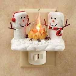 Marshmallow Snowmen Nightlight White