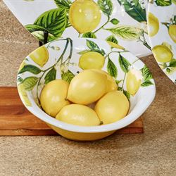 Lemon Basil Medium Bowl Yellow