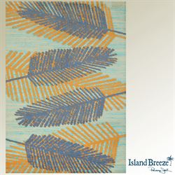Breezy Days Rectangle Rug Steel Blue