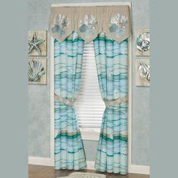 Seaview II Coastal Embroidered Valance