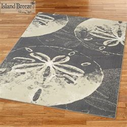 Sand Dollar Cove Rectangle Rug Dark Gray