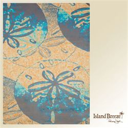 Sand Dollar Cove Rectangle Rug Orange