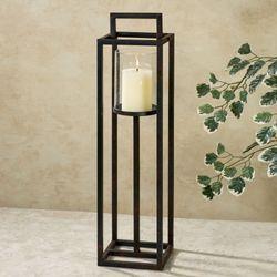 Contempo Candleholder Dark Brown