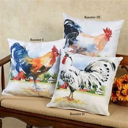 Farmland Rooster I Pillow Multi Warm 18 Square