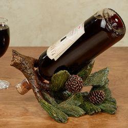Pine Cone Wine Bottle Holder Brown Green