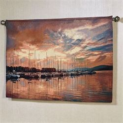 Marina Sunrise II Wall Tapestry Multi Warm