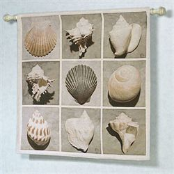 Weathered Shell Wall Tapestry Multi Earth