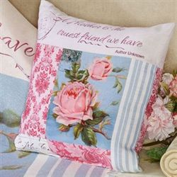 Bloomin Buds Decorative Pillow Multi Pastel 18 Square