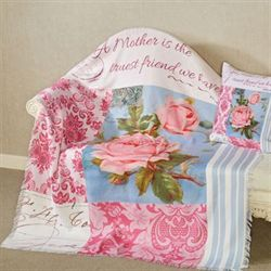 Bloomin Buds Throw Blanket Multi Pastel