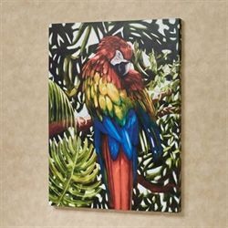Red Macaw Parrot Canvas Wall Art Multi Bright