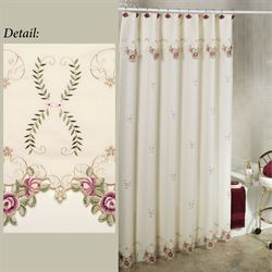 Bella Rose Shower Curtain  70 x 72