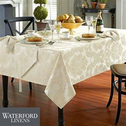 Whitmore Oblong Tablecloth Light Cream