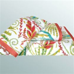 Tropical Palm Bath Towel Set Multi Jewel Bath Hand Fingertip