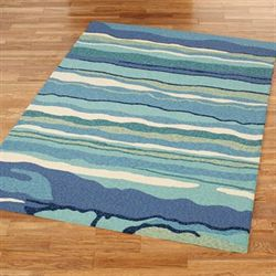 Ocean Lagoon Rectangle Rug Multi Cool