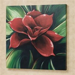 Tropic Bloom Canvas Wall Art Multi Bright