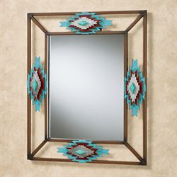 Southwest Wall Mirror Rustic Brown