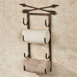 Arrow Bath Towel Rack Aged Copper