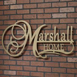 Affinity Home Personalized Metal Wall Art Sign Home