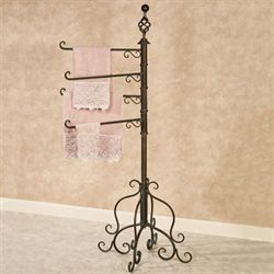 Swivel Towel Rack Floor Stand Antique Bronze