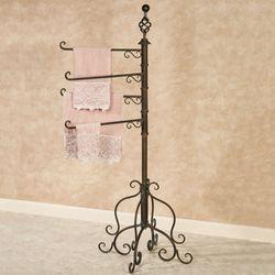 Swivel Towel Rack Floor Stand Antique Bronze