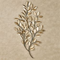 Golden Moment Leaf Wall Art