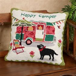 Happy Camper Decorative Pillow Multi Cool 18 Square