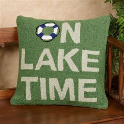 On Lake Time Decorative Pillow Multi Cool 18 Square