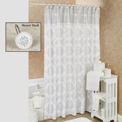 Ariel Shower Curtain Off White 72 x 72