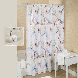 Daydream Shower Curtain White 72 x 72
