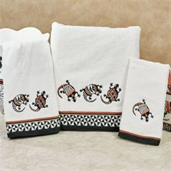 Acoma Bath Towel Set White Bath Hand Fingertip