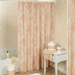 Pineapple Paradise Shower Curtain Blush 72 x 72