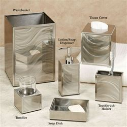 Moire Lotion Soap Dispenser Brushed Silver