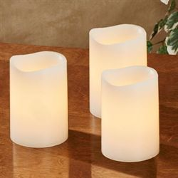 Nera LED Flameless Candles Ivory