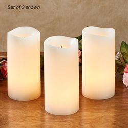 Shama LED Flameless Candles Ivory