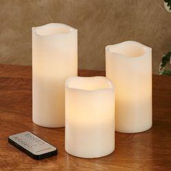 Tali LED Flameless Candles Ivory Set of Three