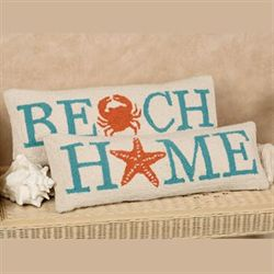 Beach Decorative Pillow Multi Cool 8 x 24