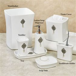 Opulent Lotion Soap Dispenser Off White