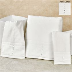 Opulent Bath Towel Set Off White Bath Hand Fingertip