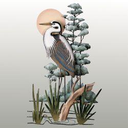 Great Blue Heron Wall Sculpture