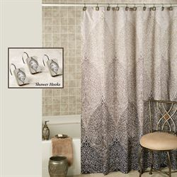 Casablanca Shower Curtain Silver