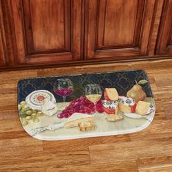 Cheese with Wine Slice Mat Multi Warm 30 x 18