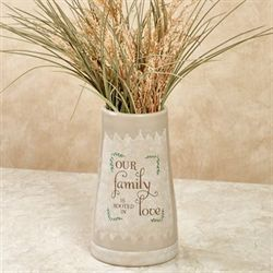 Our Family Is Rooted in Love Vase Tan