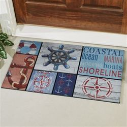 Sailors Life Nautical Doormat Blue 30 x 18