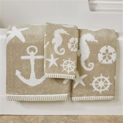 Sea and Sand Bath Towel Set Bath Hand Fingertip